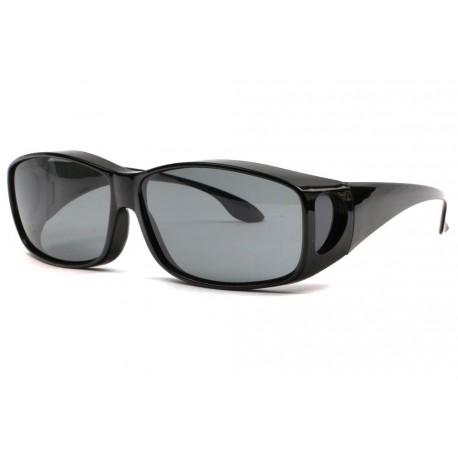 Larges Surlunettes de soleil polarisees noires Calya Lunettes de Soleil Eye Wear