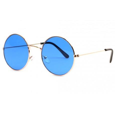 Lunettes de soleil rondes bleues dorées tendance Ytles Lunettes de Soleil Eye Wear