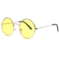 Lunettes de soleil rondes jaunes dorées mode Ytles Lunettes de Soleil Eye Wear