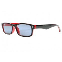 Lunettes Loupe Solaires Rouges Noires Rectangles Solya