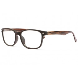 Lunettes loupe bois marron fantaisies May