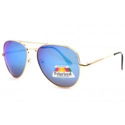 Lunette de soleil polarisees miroir bleu aviateur Maky Lunettes de Soleil Spirit of Sun
