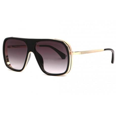 Grandes lunettes soleil fashion noire doree Mark Lunettes de Soleil SOLEYL