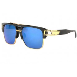 Grosses lunettes soleil Miroir Bleu Fashion Skall
