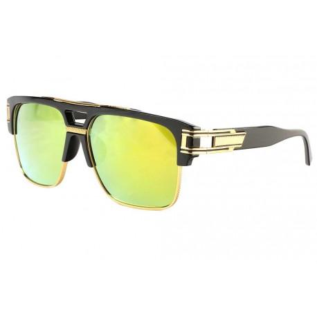 Grosses lunettes soleil Miroir Dore Fashion Skall Lunettes de Soleil Spirit of Sun