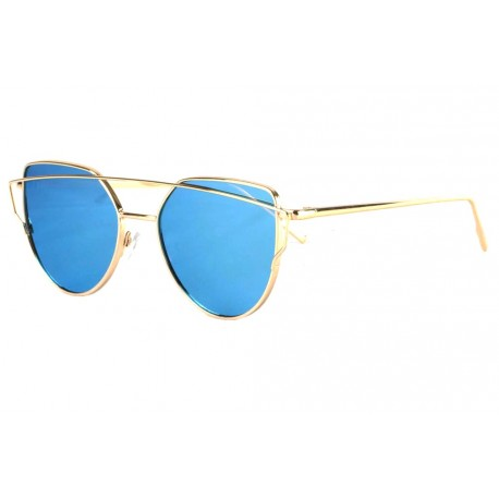 Lunette soleil miroir Bleu Alda