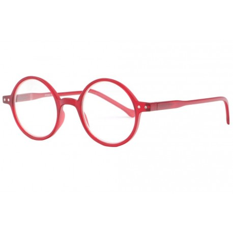 Lunettes loupe rondes rouges tendance slim Apy Lunette Loupe New Time