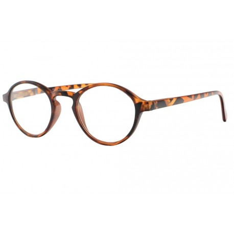 Lunettes loupe rondes vintage marron Soly Lunette Loupe New Time