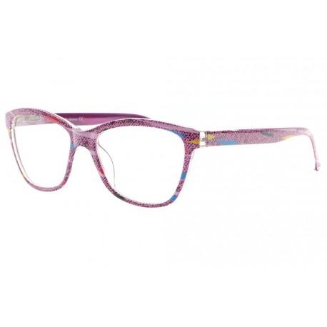 Lunettes loupe fantaisie violette, lunette