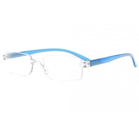 Lunettes loupe bleues transparentes et discretes Ayber Lunette Loupe New Time