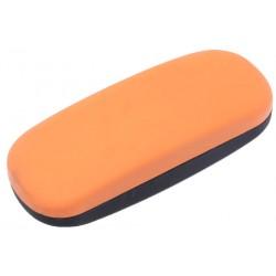 Etui lunettes rigide orange et noir arrondi Nak Accessoires lunettes New Time