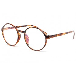 Fines Lunettes sans correction Vintage marron Saty Lunettes sans correction New Time