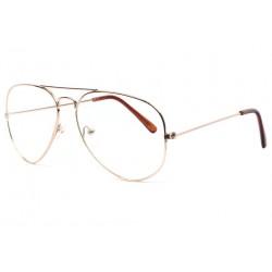 Grandes lunettes sans correction aviateur dores Metyk