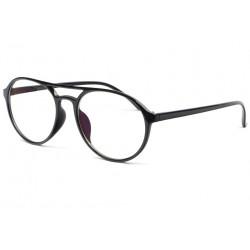 Grandes lunettes sans correction pilotes noires Melsan Lunettes sans correction New Time