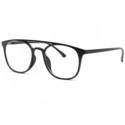 Grandes lunettes sans correction noir mat classe Nolsan