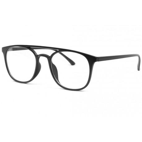 Grandes lunettes sans correction noir mat classe Nolsan Lunettes sans correction New Time