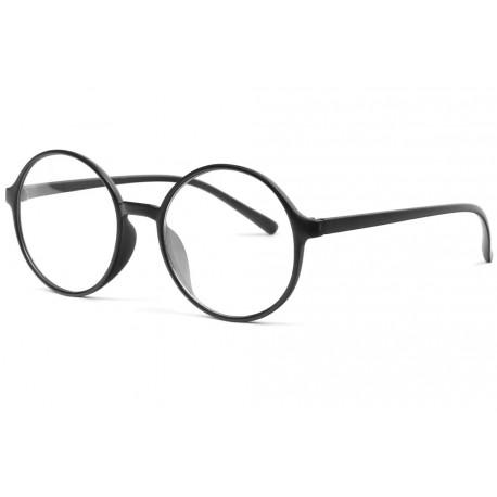Grandes lunettes sans correction rondes noires Noko Lunettes sans correction New Time