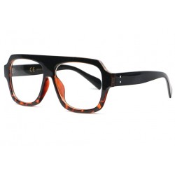 Grosses lunettes sans correction vintage marron Wesley Lunettes sans correction Spirit of Sun