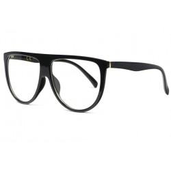 Grandes lunettes sans correction classe et design noir Gefy