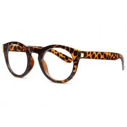 Grosses lunettes rondes sans correction vintage marron Kysley Lunettes sans correction Spirit of Sun