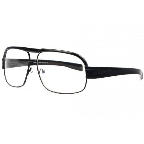 Grandes lunettes sans correction geek noires rectangles Mazzy Lunettes sans correction Spirit of Sun