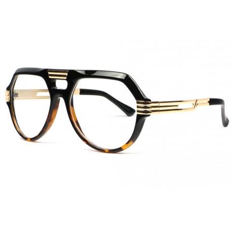 Grosses lunettes sans correction vintage marron fashion Lyk Lunettes sans correction SOLEYL