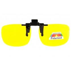 Clip lunettes de conduite de nuit surlunettes jaune polarise Rik