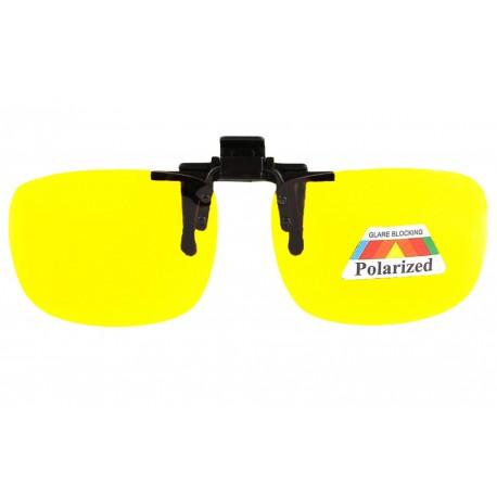 Clip lunettes de conduite de nuit surlunettes jaune polarise Rik Accessoires lunettes Loupea
