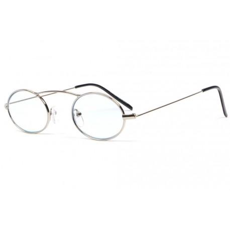 Petites lunettes loupe rondes argent en métal Fylk Lunette Loupe ProLoupe