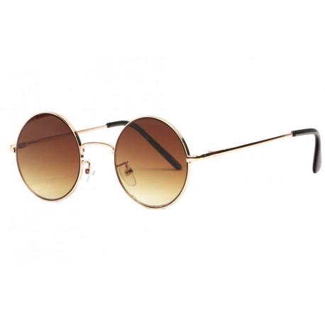 Petites lunettes de soleil rondes dorées classe Lyf Lunettes de Soleil Eye Wear
