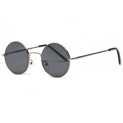 Fines lunettes de soleil rondes noires classe Lyf Lunettes de Soleil Eye Wear