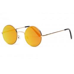 Fines lunettes de soleil rondes miroir doré fashion Lyf Lunettes de Soleil Eye Wear