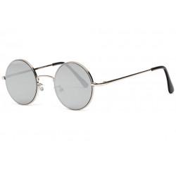 Petites lunettes de soleil rondes miroir argent fashion Lyf Lunettes de Soleil Eye Wear