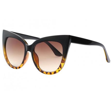 Grandes Lunettes soleil Papillon Marron Vintage Lacy Lunettes de Soleil Eye Wear