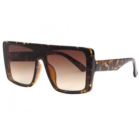 Grandes lunettes de soleil Marron Ecailles Fashion Kiev Lunettes de Soleil Eye Wear