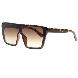 Grandes lunettes de soleil Marron Ecailles Tendance Kek Lunettes de Soleil Eye Wear