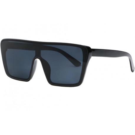 Grosses lunettes de soleil Noires Tendance Kek Lunettes de Soleil Eye Wear