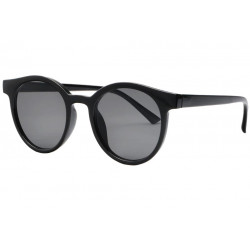 Lunettes de soleil rondes noir brillant tendance Jyk Lunettes de Soleil Eye Wear