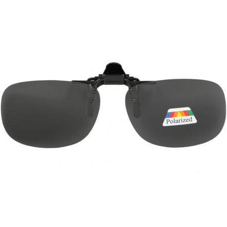 Clip solaire polarisé surlunettes de soleil noir rectangle Lerk Accessoires lunettes Loupea