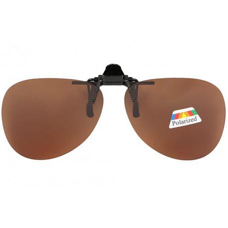 Clip solaire polarisé surlunettes de soleil aviateur Marron Perk Accessoires lunettes Loupea