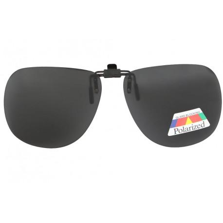 Grand clip solaire polarisé surlunettes de soleil Pilote Noir Terk Accessoires lunettes Loupea