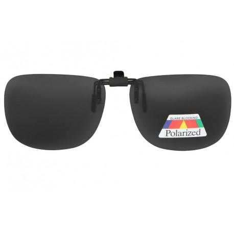 Clip solaire antireflets surlunettes de soleil gris rectangle Werk Accessoires lunettes Loupea