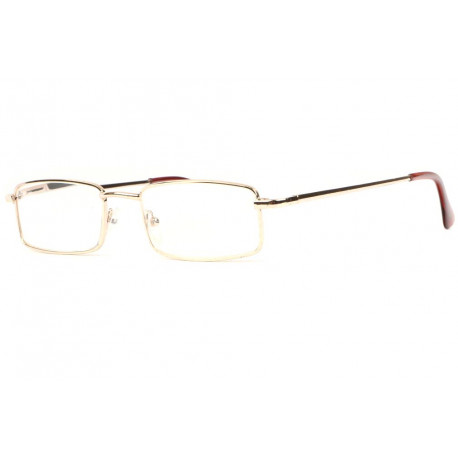 Fines lunettes loupe metal dore rectangles Escoy Lunette Loupe New Time