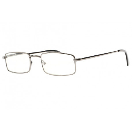 Fines lunettes loupe metal gris rectangles Escoy Lunette Loupe New Time