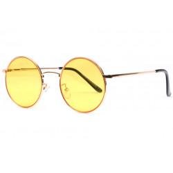 Lunettes de soleil rondes jaunes fashion Kyl Lunettes de Soleil Spirit of Sun