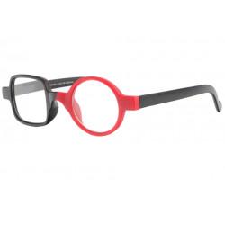 Lunettes loupe fantaisie rondes rouges et noires Ambyx Lunette Loupe ProLoupe