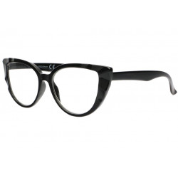 Grandes lunettes loupe femme noires papillon Glamy Lunette Loupe New Time