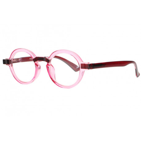 Lunettes loupe rondes roses transparentes Osy Lunette Loupe New Time