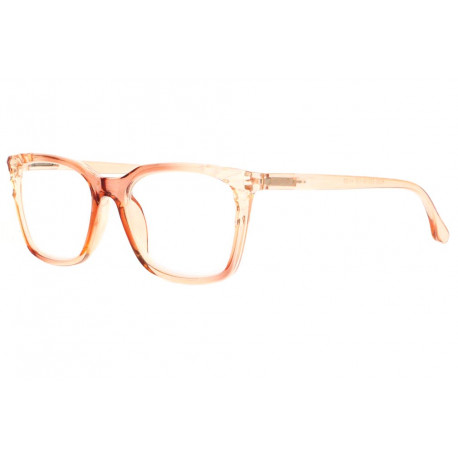 Grandes lunettes loupe femme marron transparent Maly Lunette Loupe New Time