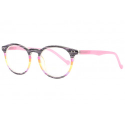 Lunettes loupe rondes roses et noires fantaisies Maya Lunette Loupe New Time